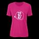 法國【EiDER】女排汗透氣短袖微V領衫/EIT2551桃 product thumbnail 1