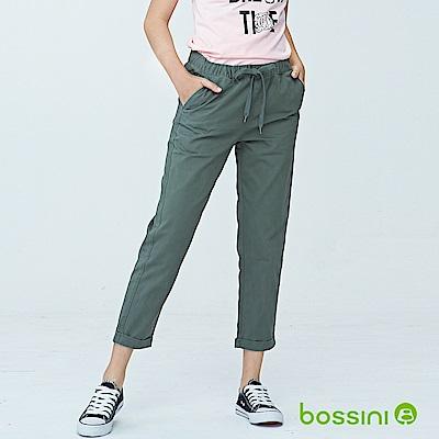bossini女裝-輕鬆長褲01橄欖灰