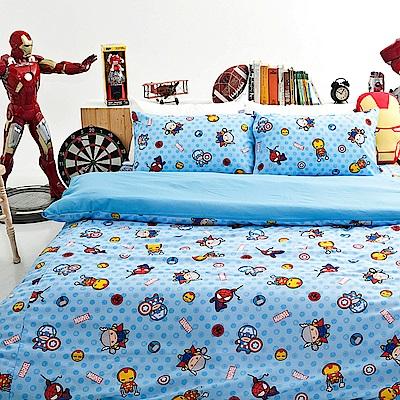 戀家小舖-雙人加大床包被套組-復仇者聯盟-超萌英雄