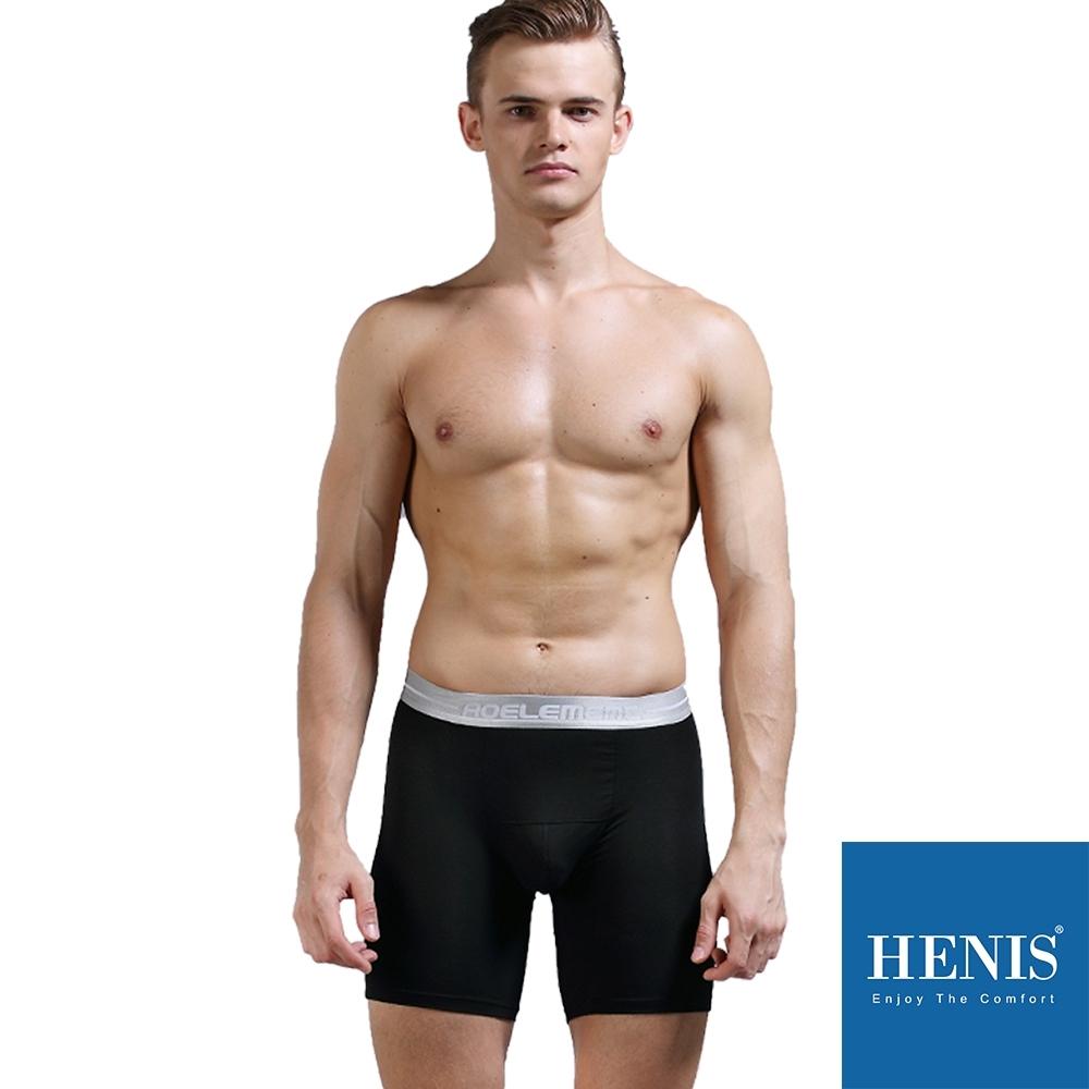HENIS ENERGY 貼彈壓力長板 防磨機能四角褲 (黑)