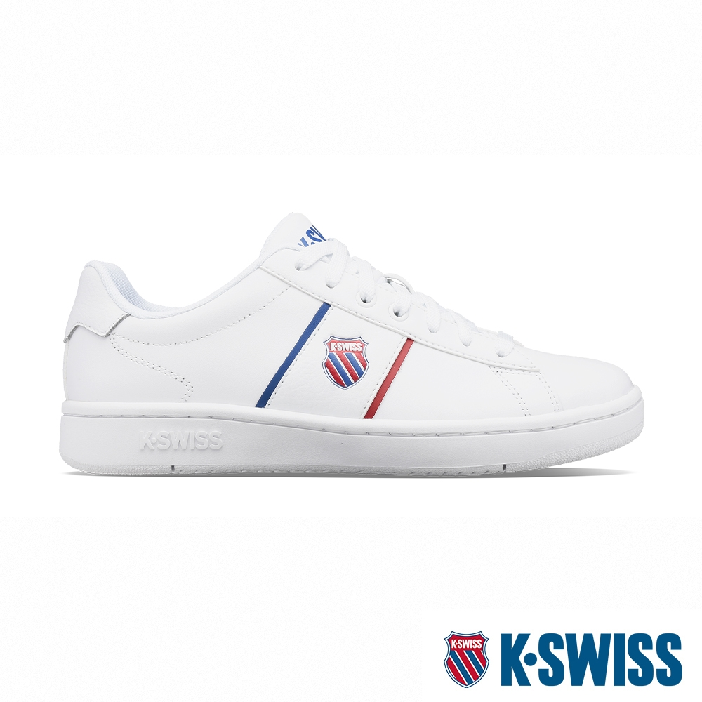 K-SWISS Court Vittora 時尚運動鞋-男-白/藍/紅