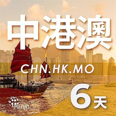 【PEKO】中港澳上網卡 6日高速4G上網 無限量吃到飽 優良品質高評價 快速到貨