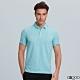 G2000素面網眼短袖polo衫-藍色 product thumbnail 1