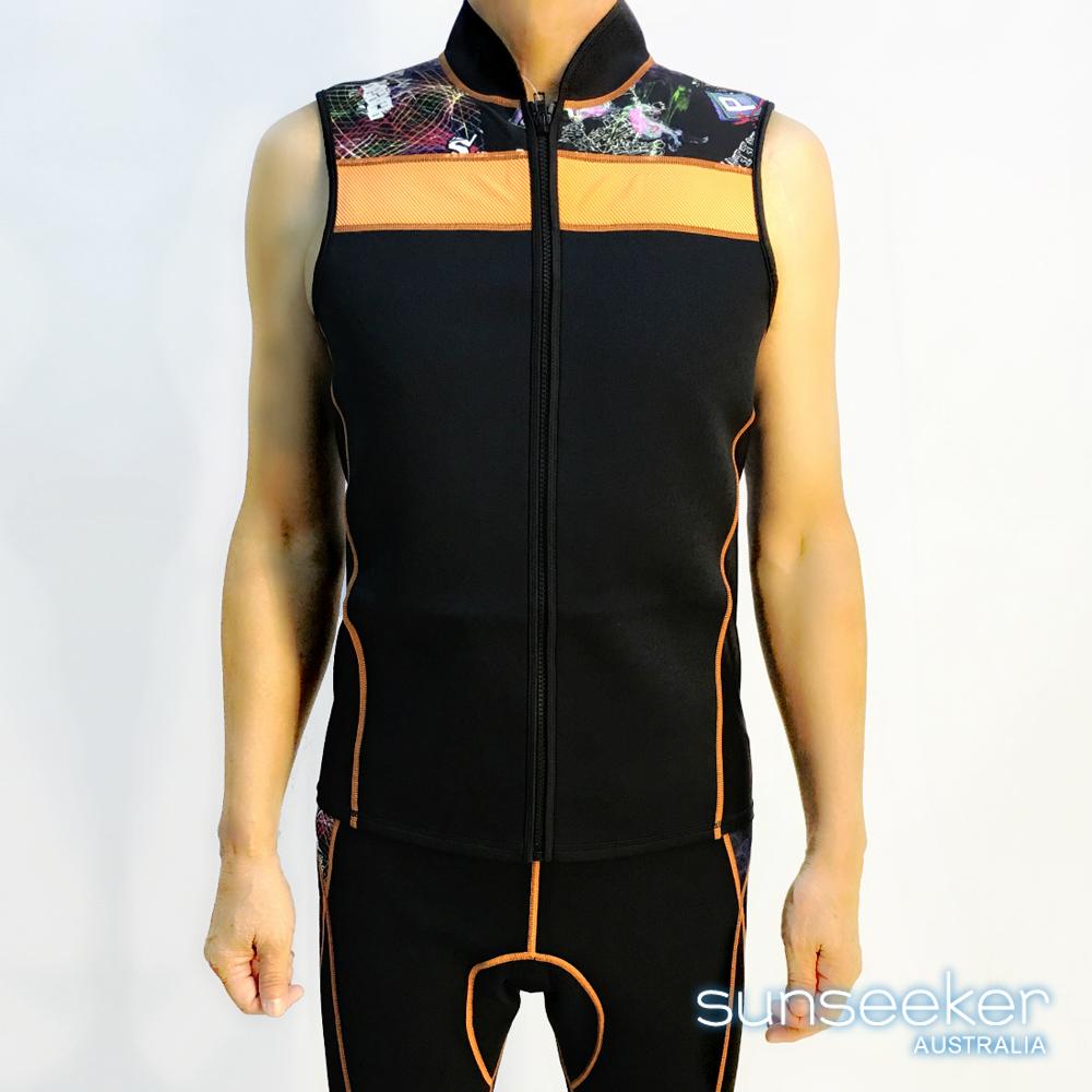 澳洲Sunseeker泳裝大男專業衝浪無袖潛水防寒衣