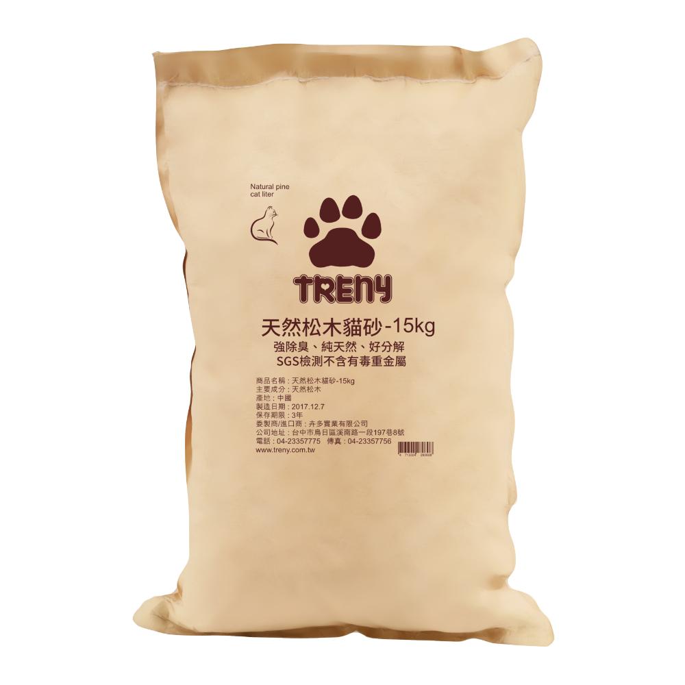 TRENY 天然松木貓砂 - 15kg