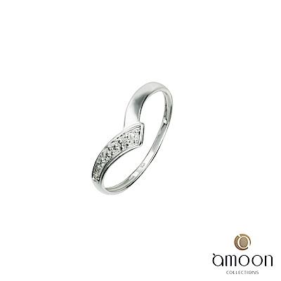 amoon 浪漫艾菲爾系列 誓言 K金鑽石戒指