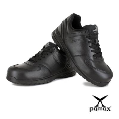 PAMAX帕瑪斯【頂級氣墊止滑運動型安全鞋】PS37101FEH-除臭抗菌-寬楦鋼頭-後跟腳加強防護-反光設計