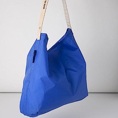 可收納式時尚托特包 (肩背單色版) 寶藍