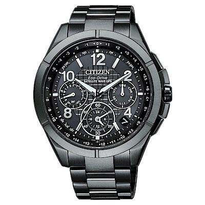 CITIZEN 星辰GPS定位對時藍寶石防水男腕錶-黑(CC9075-52F)