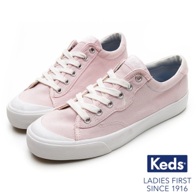 Keds CREW KICK 經典半月帆布綁帶休閒鞋-丁香紫