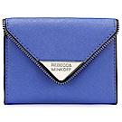 Rebecca Minkoff 三角金屬LOGO壓釦式鑰匙圈零錢包-藍色