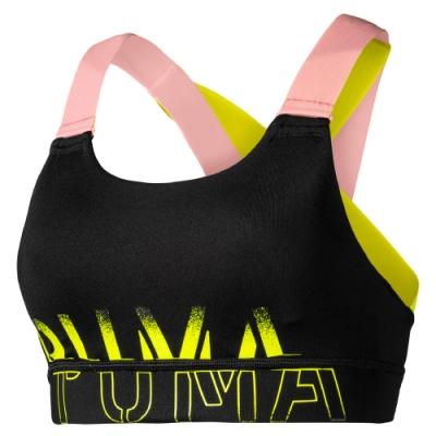 PUMA-女性訓練系列Feel It中衝擊運動內衣-黑色-歐規