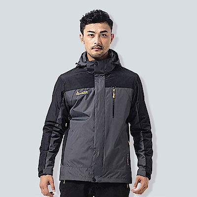 ANDYMAY2三穿戶外防風防雨機能外套-男款-碳灰