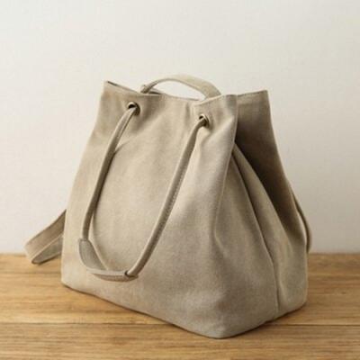 米蘭精品 手提包棉麻肩背包-純色簡約休閒百搭女包情人節生日禮物3色73sx6