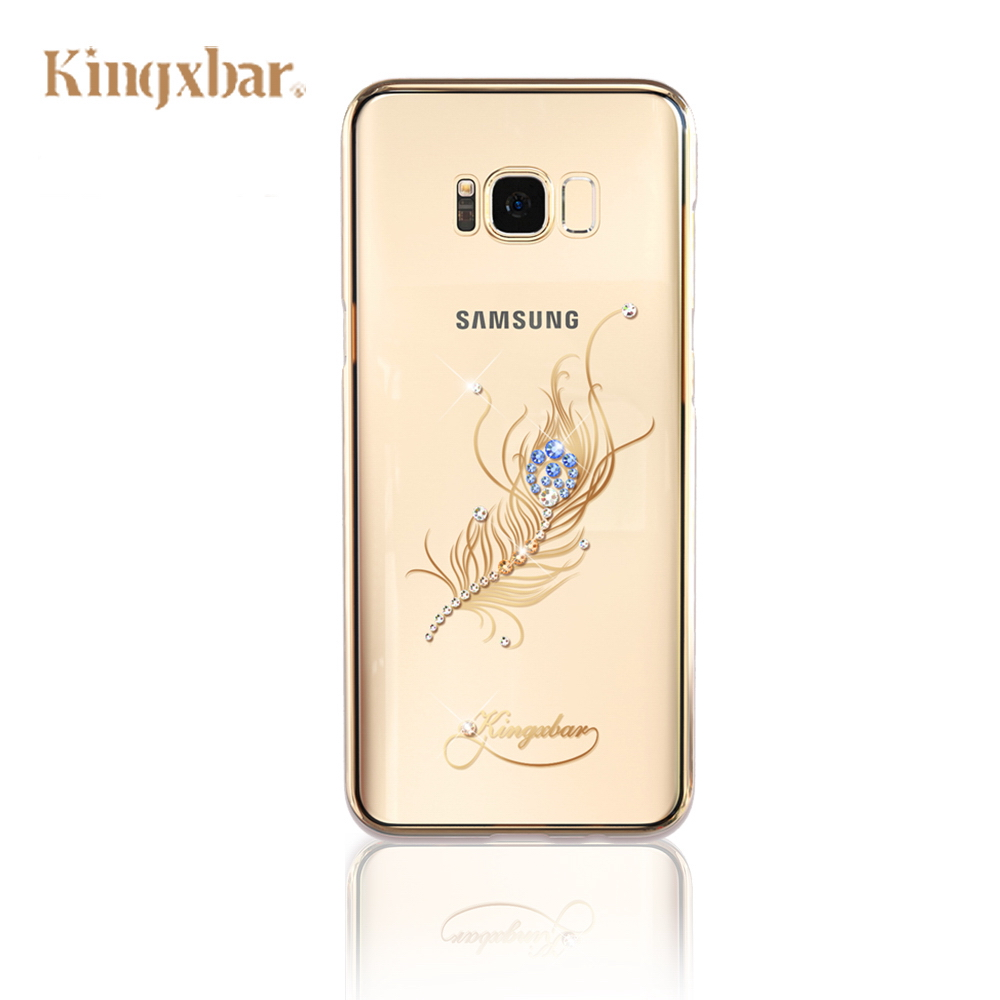 Kingxbar Samsung S8 施華洛世奇彩鑽 保護殼-翎羽