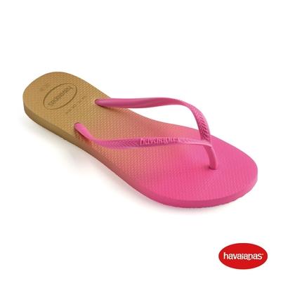Havaianas哈瓦仕 拖鞋 夾腳拖 人字拖 漸層 巴西 女鞋 白/潮流粉 4146097-8890W Slim Gradient