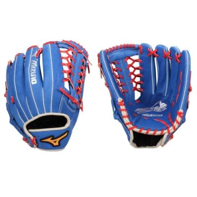 MIZUNO 壘球手套-外野手用-右投 美津濃 訓練 棒球 1ATGS20960-22 藍紅