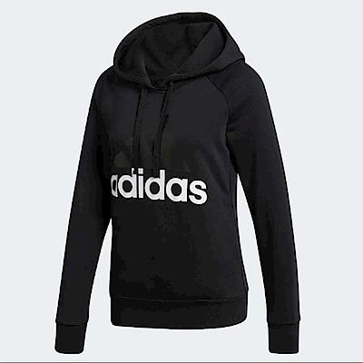 adidas 帽T ESS Linear Pullover 女款