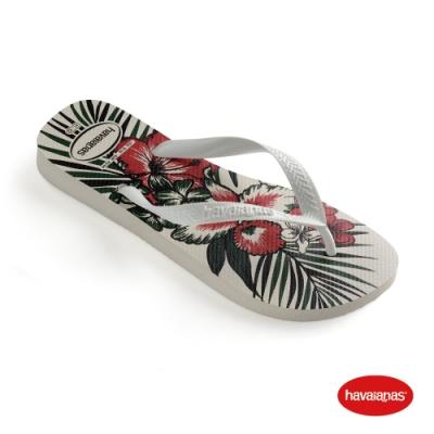 Havaianas 哈瓦仕 拖鞋 夾腳拖 人字拖 夏威夷主題 巴西 男鞋 女鞋 白/白/黑 4111355-8616U Aloha