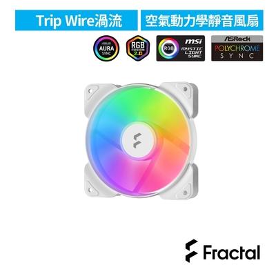 【Fractal Design】Aspect RGB 12cm 散熱風扇-白