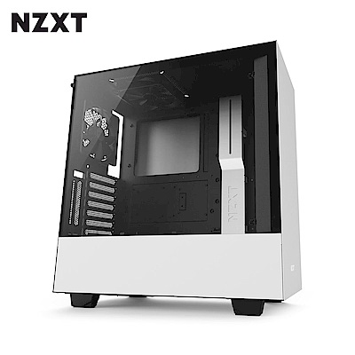 NZXT恩傑 H500 MID-TOWER CASE 電腦機殼/鋼化側透玻璃-白