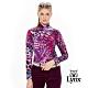 【Lynx Golf】女款義大利進口豹紋花色長袖POLO衫-紫色 product thumbnail 2