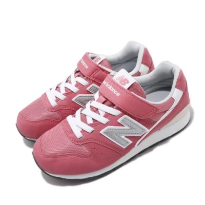 New Balance 休閒鞋 996 Wide 寬楦 童鞋 紐巴倫 基本款 簡約 魔鬼氈 中童 穿搭 粉 銀 KV996CIYW