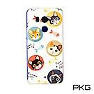 PKG HTC U11 PLUS 彩繪保護殼-創意彩繪-貓&魚骨