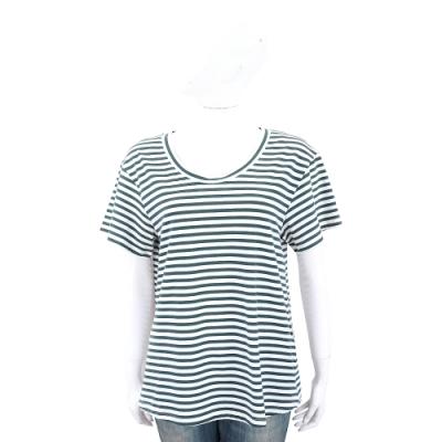 Max Mara-WEEKEND 綠色百搭條紋棉質短袖T恤