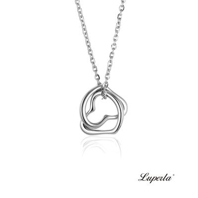 大東山珠寶 L&H Luperla 純鋼浪漫禮物項鍊 一生的摯愛 Hearts of both  13mm(純鋼)