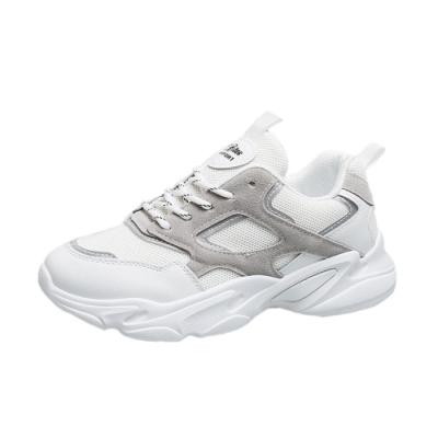 KEITH-WILL時尚鞋館 品牌時尚潮異國材質透氣老爹鞋-白
