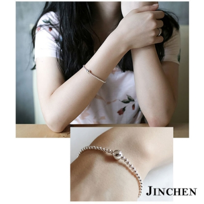 JINCHEN 純銀彈性繩串珠手鍊