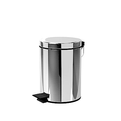 TRENY 加厚 緩降 不鏽鋼垃圾桶 5L
