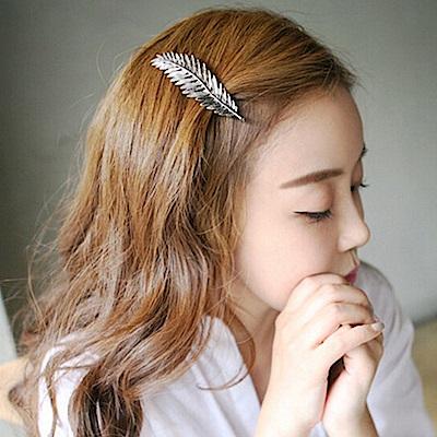 Hera 赫拉 歐美復古羽毛葉髮夾-2色