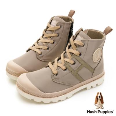 Hush Puppies 質感防潑水休閒女靴-杏色