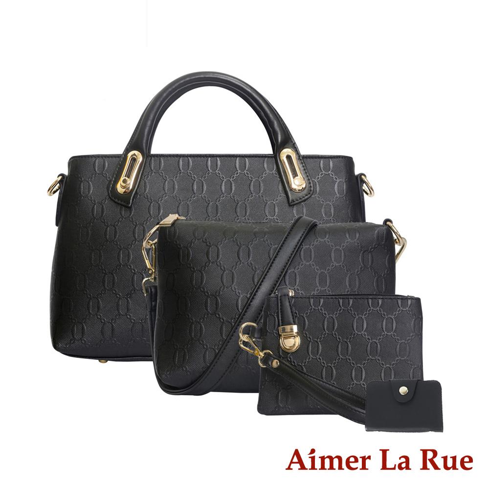 Aimer La Rue 細緻優雅四件超值組(黑色)