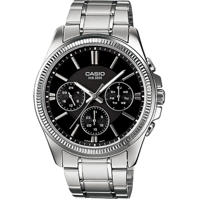 CASIO 卡西歐 城市日曆手錶 MTP-1375D-1AV