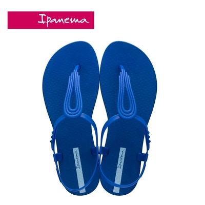 IPANEMA CLASS POP IV 水滴鏤空T字涼鞋-藍