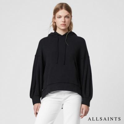 ALLSAINTS TONIC SIDOLA 袋鼠口袋素面棉質帽T上衣-黑