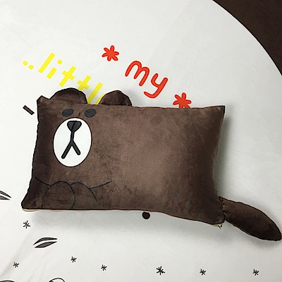 HUEI生活提案 水晶絨 可拆洗動物造型造型枕 布朗熊