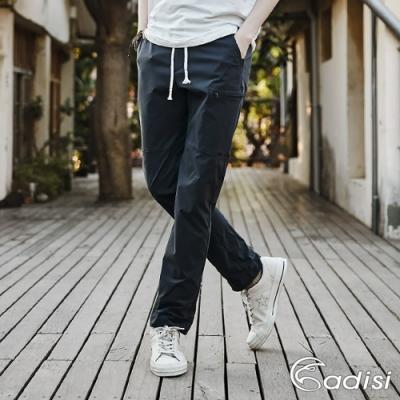 ADISI 男supplex平紋彈性透氣快乾休閒抽繩長褲AP1911044