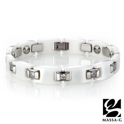 DECO X MASSA-G【White】黑白絕配陶瓷手環
