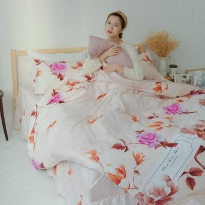 Microban 美國抗菌雙人加大五件式舖棉兩用被床罩組(語春嫣然)