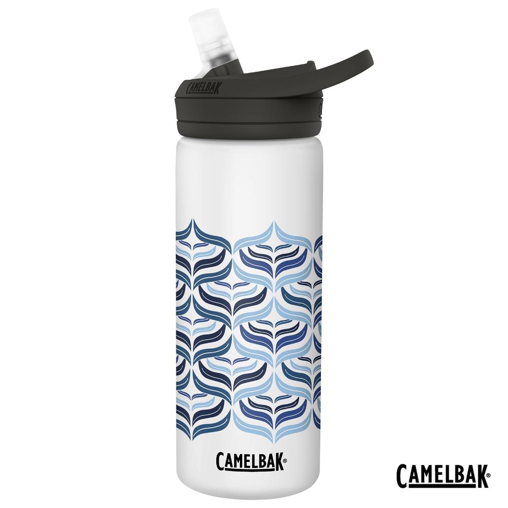 【美國 CamelBak】600ml eddy+多水吸管保冰/溫水瓶 波浪紋理