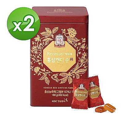 【正官庄】高麗蔘無糖糖果180g/盒x2盒