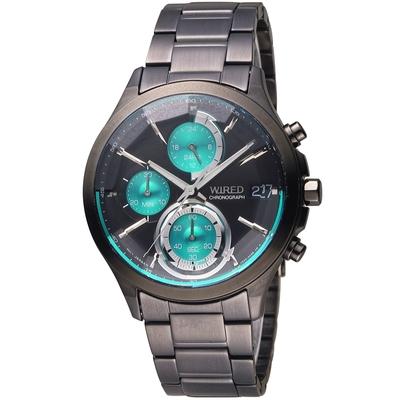 WIRED 日系潮流炫彩三眼計時腕錶 VR33-0AA0G(AY8010X1)-40mm