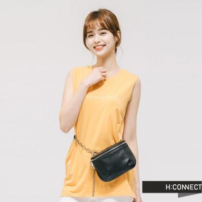 H:CONNECT 韓國品牌 配件 -鍊條拼接皮革包