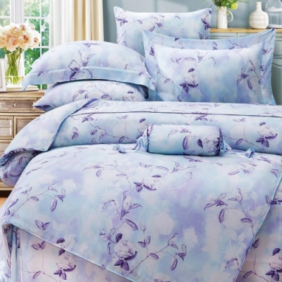 Saint Rose 奧若亞 加大100%純天絲兩用被套床包四件組