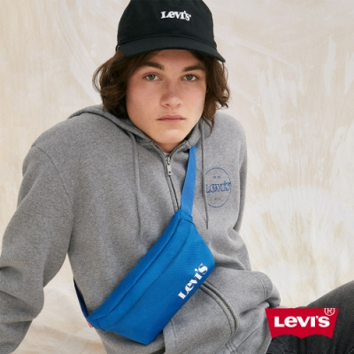 Levis 男女同款 可調式環釦棒球帽 FLEXFIT 110吸濕排汗 精工刺繡Logo 黑