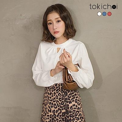 東京著衣 韓系心機鏤空設計雪紡襯衫-S.M(共三色)